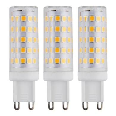 Lampadina LED G9, Capsula, Trasparente, Bianco, Luce calda, 6W=630LM (equiv 50 W), 360° , set di 3 pezzi