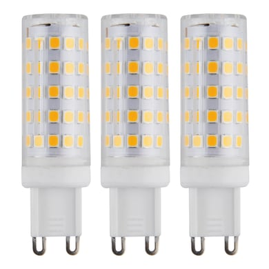 Lampadina LED G9, Capsula, Trasparente, Bianco, Luce naturale, 6W=640LM (equiv 50 W), 360° , set di 3 pezzi