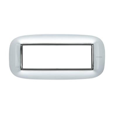 Placca BTICINO Axolute 6 moduli alluminio spazzolato