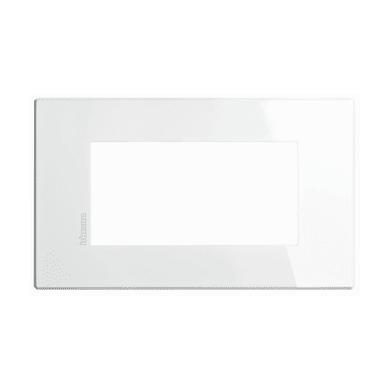 Placca BTICINO Axolute-Air 4 moduli bianco