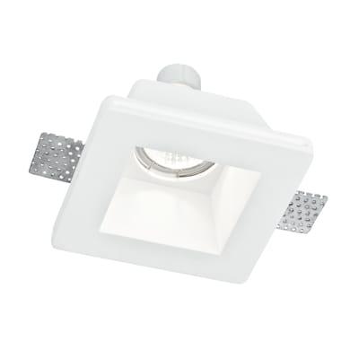 Faretto fisso da incasso quadrato Ghost-q1  in Gesso bianco, 12xGU10 MAX42W IP20