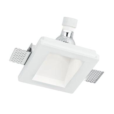 Faretto fisso da incasso quadrato Ghost-q1d  in Gesso bianco, 12xGU10 MAX42W IP20