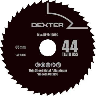 Lama per sega circolare DEXTER POWER acciaio e carbonio Ø 85.0 mm 44 denti
