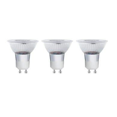 Set di 3  lampadine LED, GU10, Faretto, Trasparente, Luce calda, 5.2W=460LM (equiv 50 W), 100° , LEXMAN