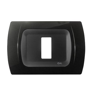 Placca CAL Click-Laser 1 modulo nero
