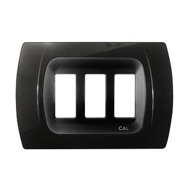 Placca CAL Click-Laser 3 moduli nero