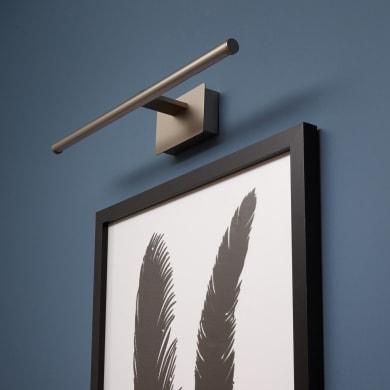 Applique moderno quadri Museio LED integrato , in alluminio, 39.2x6.4 cm, INSPIRE