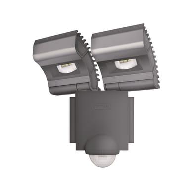 Proiettore LED integrato con sensore di movimento Noxlite in alluminio, grigio, 8W 1720LM IP44 OSRAM