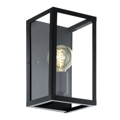Applique industriale Charterhouse nero, in acciaio inossidabile, 16x15 cm, EGLO