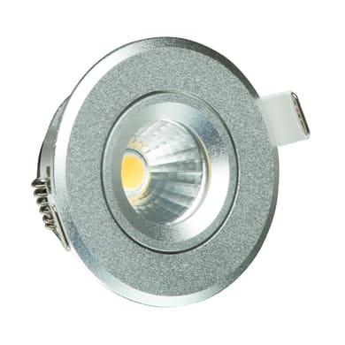 Faretto fisso da incasso orientabile tondo Monique  in Alluminio argento, diam. 6.8 cm LED integrato 5W 230LM IP20