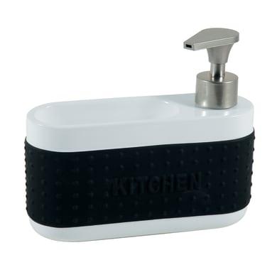 Dispenser sapone bianco/nero