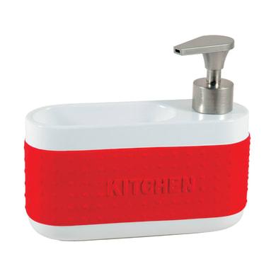 Dispenser sapone bianco/rosso