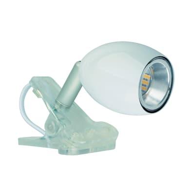 Faretto singolo Araled bianco, in acciaio, LED integrato 1.5W IP20 INSPIRE