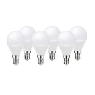 Lampadina LED E14, Sferico, Opaco, Bianco, Luce calda, 8W=806LM (equiv 60 W), 220° , LEXMAN , set di 6 pezzi