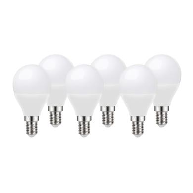 Lampadina LED E14 sferico bianco tenue 8W = 806LM (equiv 60W) 220° LEXMAN, 6 pezzi