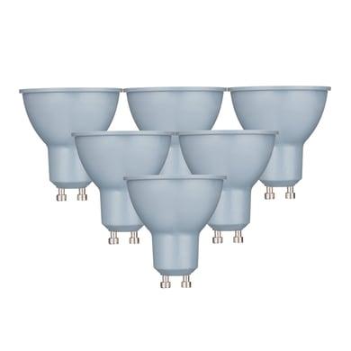 Lampadina LED GU10 faretto bianco caldo 6W = 450LM (equiv 50W) 100° LEXMAN, 6 pezzi