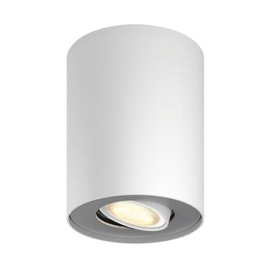 Faretto singolo Pillar bianco, in metallo, LED integrato 5.5W 250LM IP20 PHILIPS HUE