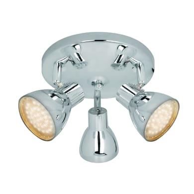 Plafoniera Iki cromo, in metallo, LED integrato 7.8W 510LM IP20 INSPIRE