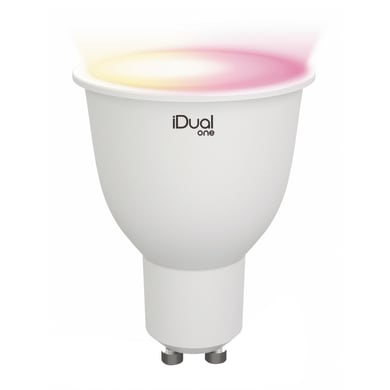 Lampadina LED GU10 riflettore colore cangiante 5W = 330LM (equiv 40W) 100° LEXMAN
