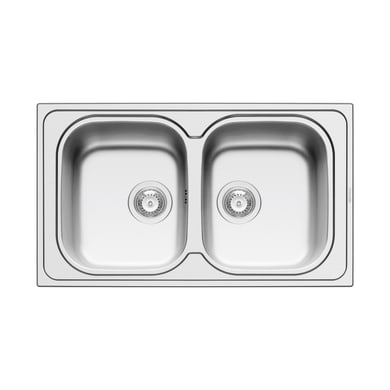 Lavello da incasso Amaltia Dekor 86 x 50 cm 2 vasche