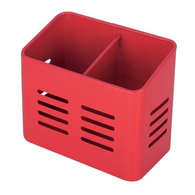 Porta utensile in metallo rosso 15.8 x 13 x 9 cm