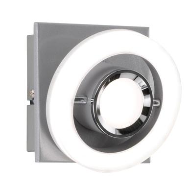 Faretto singolo Detroit cromo, in metallo, LED integrato 8.3W 610LM IP20 WOFI