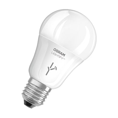 Lampadina smart lighting LED, E27, Goccia, Opaco, RGB, 10W=810LM (equiv 60 W), 190° , OSRAM