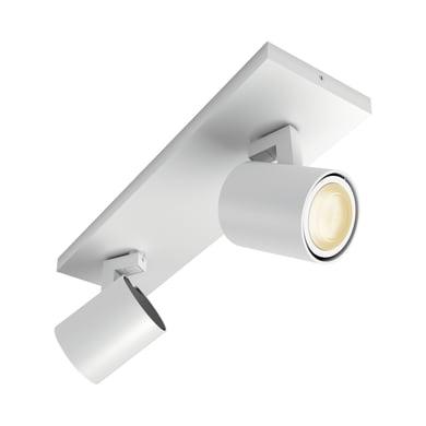 Barra di faretti Runner bianco, in metallo, GU10 2x5.5W IP20 PHILIPS HUE