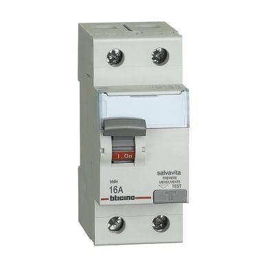 Interruttore differenziale puro BTICINO G722AC16 2 poli 16A AC 2 moduli 230V