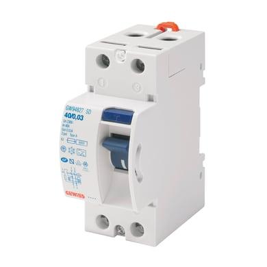 Interruttore differenziale puro GEWISS GWD4817 2 poli 25A 30mA A 2 moduli 230V