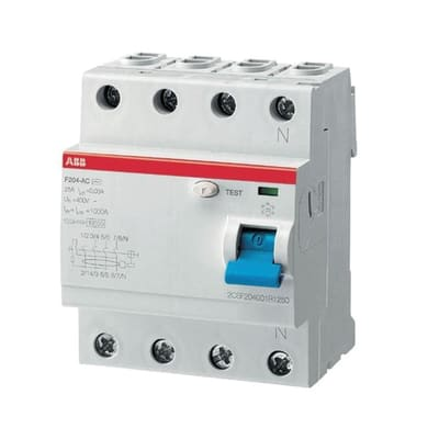 Interruttore differenziale puro ABB ELF204-25003A 3 poli 25A 30mA AC 4 moduli 230V