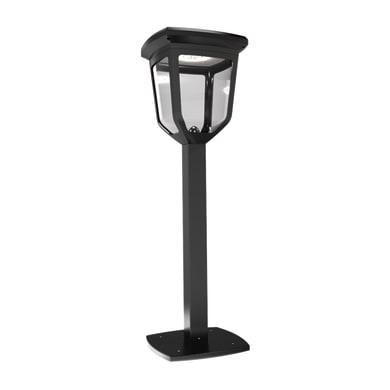 Lampioncino solare Kappa LED integrato H60cm nero 200LM IP44 XANLITE
