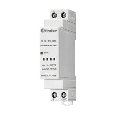 Alimentatore FINDER 781212301200 1 modulo 12V IP20 4 mm²