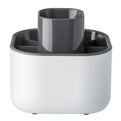 Porta posate Rengo in plastica bianco 12.5 x 13 x 12.5 cm