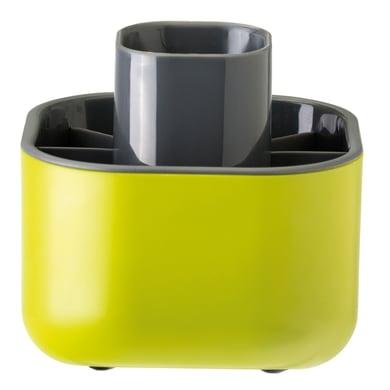 Porta posate Rengo in plastica verde 12.5 x 13 x 12.5 cm