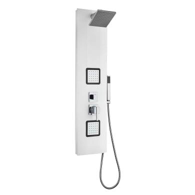 Colonna doccia idromassaggio Basic con miscelatore meccanico bianco 2 getti