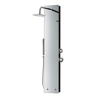 Colonna doccia idromassaggio Glassy con miscelatore meccanico cromato