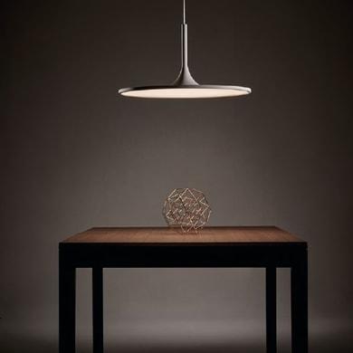 Lampadario Design Halo LED integrato bianco, in acrilico, D. 61.1 cm