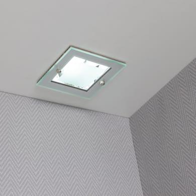 Faretto fisso da incasso quadrato Zeta  in Alluminio grigio, 12xE27 MAX40W IP21 INSPIRE