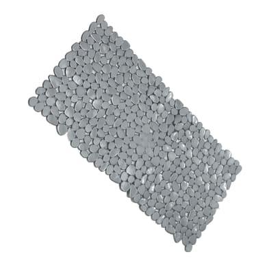 Tappeto antiscivolo rettangolare Stones in pvc grigio 73 x 36 cm
