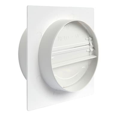 Placca Con valvola di non ritorno bianco Ø100 Ø 100 mm