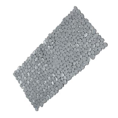Tappeto antiscivolo rettangolare Stones in pvc grigio 89 x 38 cm