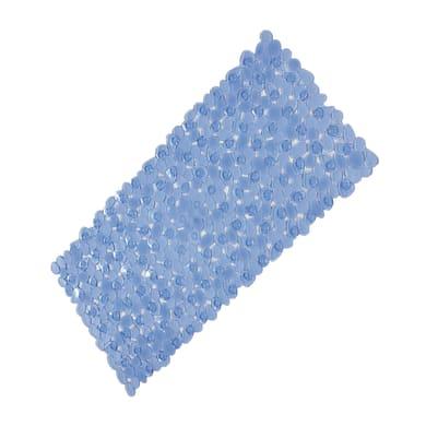 Tappeto antiscivolo rettangolare Stones in pvc azzurro 89 x 38 cm