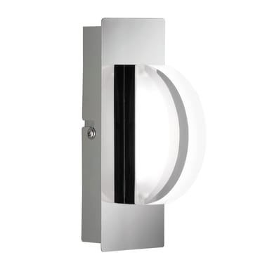 Applique moderno Estera LED integrato cromo, in metallo, 16.5x16.5 cm, WOFI