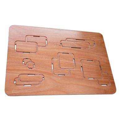 Pedana per doccia Optical in legno  naturale 54 x 68 cm