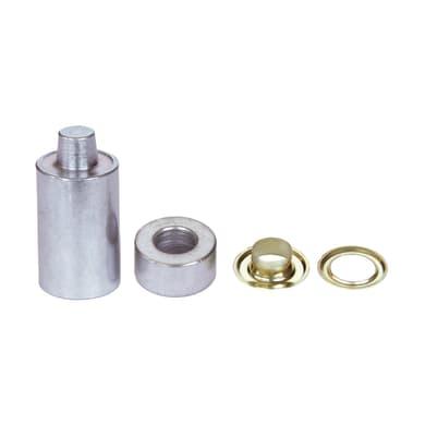 Occhielli KIT 50 OCCHIELLI 4 + ATTREZZI DI POSA in acciaio L 0 x H 0 mm 50 pezzi