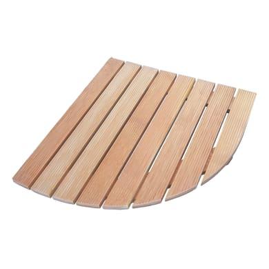 Pedana per doccia in legno larice naturale 63 x 63 cm