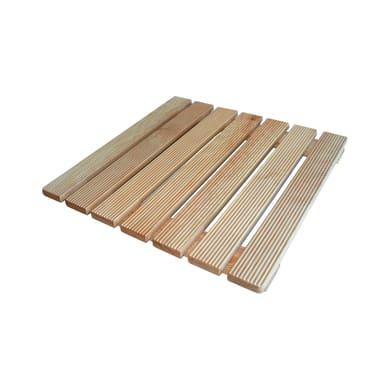 Pedana per doccia in legno larice naturale 60 x 60 cm