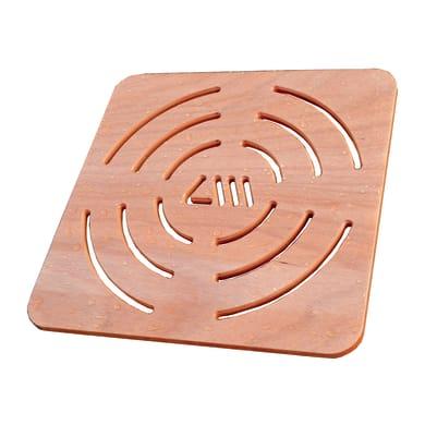 Pedana per doccia in compensato marino in legno  naturale 50 x 50 cm