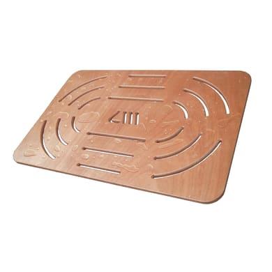 Pedana per doccia in compensato marino in legno  naturale 52 x 78 cm